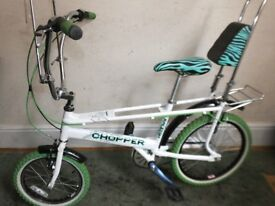 RALEIGH CHOPPER - LIMITED EDITION - NEON (CUSTOM REBUILT BIKE) READY TO RIDE! PERFECT XMAS PRESENT