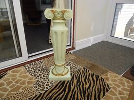 RESIN COLUMN REALLY LOVELY DESIGN 26 1/2 INCHES HIGH
