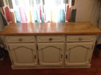 Reclaimed shabby chic wooden sideboard