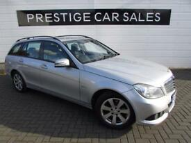 MERCEDES-BENZ C CLASS 1.8 C180 BLUEEFFICIENCY SE 5d 155 BHP (silver) 2012