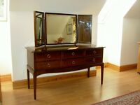 Stag Minstrel Triple Mirror Dressing Table with 6 drawers - Very Good Condition
