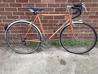 Vintage French road bike - light weight frame - new tyres and saddle