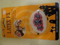 WOUND WITH STITCHES FOR FANCY DRESS - ADHESIVE - LATEX FX - NEW & SEALED