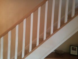 Chamfered Pine spindles. Primed & Painted