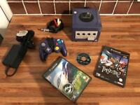 Nintendo GameCube with Controller, Memory Card, Timesplitters 2, Medal of Honour and ISS 2.