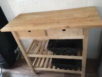 Kitchen trolley with baskets