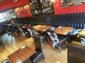 Restaurant Booths, Tables & Chairs For Sale