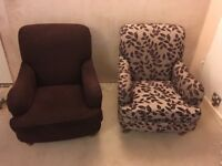2 x Marks and Spencer Club Chairs.