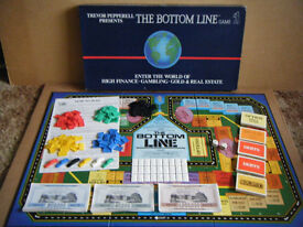 """Trevor Pepperell """"THE BOTTOM LINE""""board game. By Silver Bear PLC 1985. Complete."""