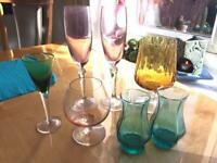 Various coloured glasses