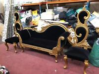 Wedding Sofa Set, Seating, Furniture ,3 Seater with 2 Throne Side Chairs, Walima, Mehndi, RRP £2750