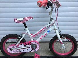 Hello Kitty Girls Bike - 10 Inch Frame