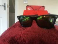 Brand new RAYBAN SUNGLASSES With leather pouch and certificate