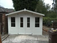 plastic shed///disabled wheel chair access/// plastic summerhouse
