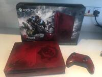 Xbox one s rare gears of war crimson red