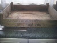 Decorative old wooden 1977 storage crate. Planter/dog bed etc etc.Portsmouth, North End