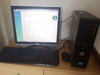 Dell Optiplex 760 PC and Monitor