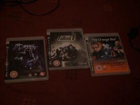 ps3 playstation games bundles: fallout 3, darkness,the orange box(half life 2,team fortress2,portal)
