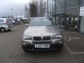 2007 07 BMW X3 2.0 D SE 5D 148 BHP***GUARANTEED FINANCE***PART EX WELCOME***