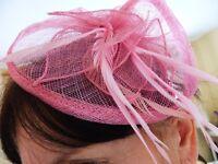 Pink fascinator hat