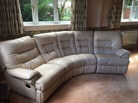 BARGAIN OFFER: Curved sofa unit and footstool - £500.00 (£2,500 RRP)