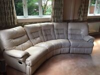 BARGAIN OFFER: Curved sofa unit and footstool - £350.00 (£2,500 RRP)
