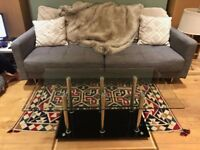 Glass coffee table in excellent condition!