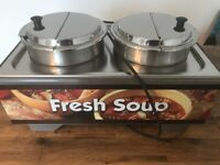 Vollrath Food Warmer Bain marie re-thermalisers with Pots Soup Stew
