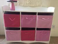 Kids storage with boxes