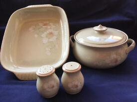 Denby Daybreak for sale - vg cond. Plates,serving dishes, tea & coffee sets, S & P pots, milk jug.