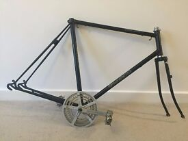 Classic luxus racer steel bike frame and parts