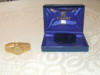 "Ladies Gold Plated Tissot ""winder"" Watch. Boxed. Ex. condition."