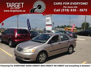 2003 Toyota Corolla Sport, 4 Cylinder Great on Gas !!!