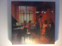 """canvas picture. French café scene 20"""" x 20"""". cost £20 from Dunelm. excellent condition"""