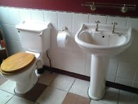 Bathroom suite for sale.good condition. £100 ono .includes 1200x900 shower tray,slidings doors