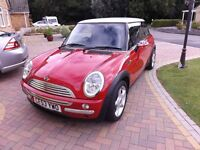 MINI COOPER (Pepper Pack) 1.6, Red with White Roof and Union Jack Door Mirrors