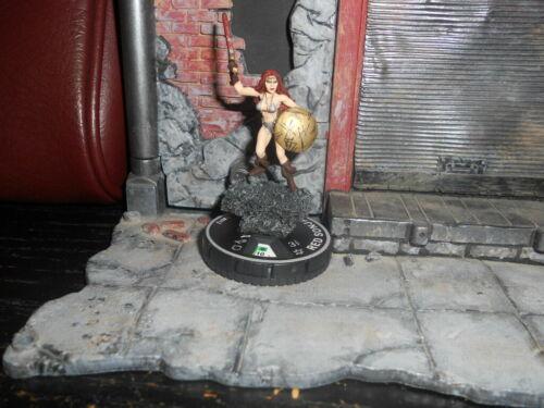 CUSTOM Heroclix RED SONJA Warrior Figure Miniature Pro Painted Female Sexy