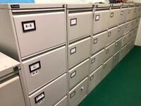 Silverline Grey 4 Draw Filing Cabinet