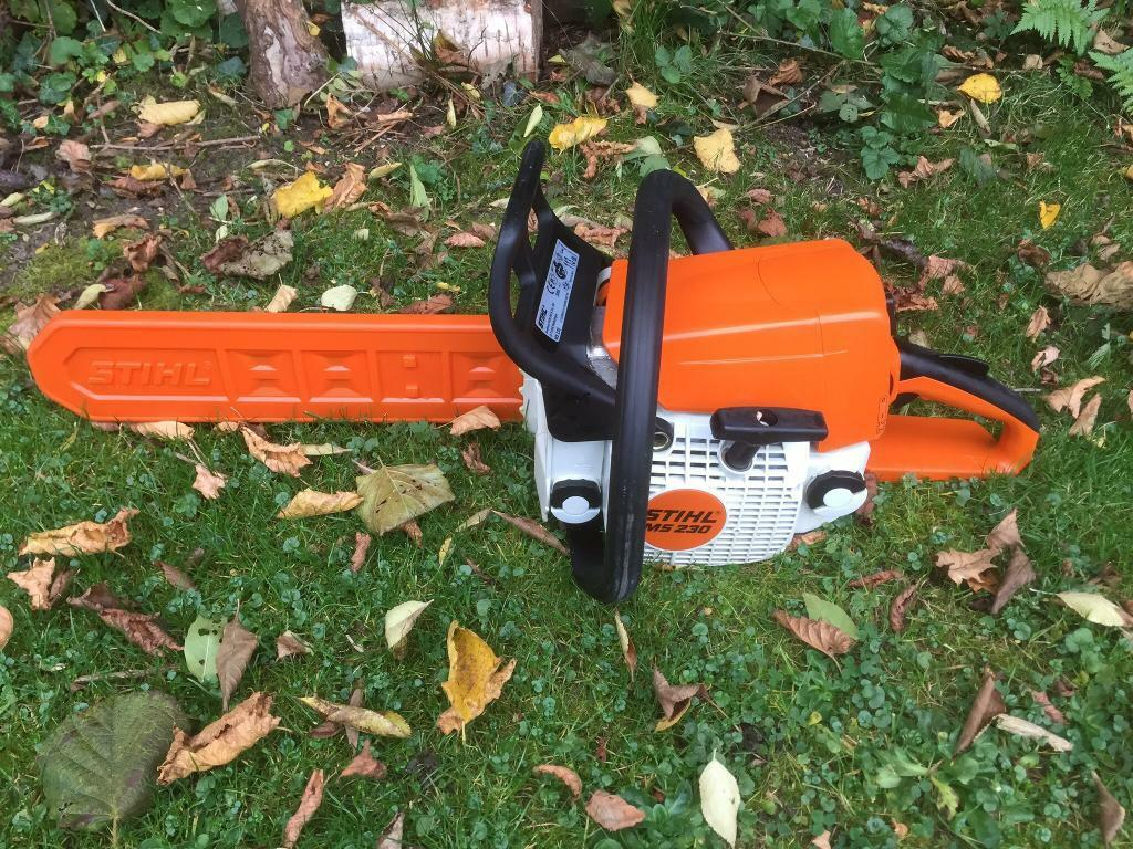 "Stihl MS230 Chainsaw Tree Cutting Logs Wood Garden 2005 2 Stroke Petrol 15"" Bar"