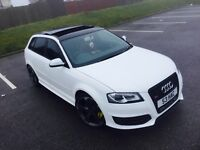 *****AUDI S3 SPORTBACK FULLY LOADED***MILLTEK***SAT NAV***350BHP**PANROOF**80K***FSH***HUGE SPEC***