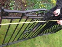 One pair Black Wrought Iron Gates