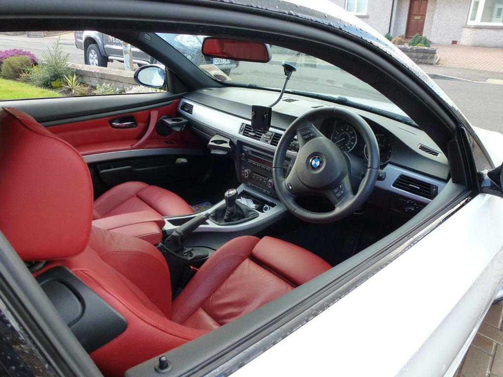 White Bmw Coupe With Red Interior