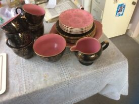 China tea set 22k gold 21 piece complete ideal wedding present collect only £25 ono 07805 885056