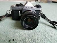 Pentax ME Super camera, Winder, and accessories