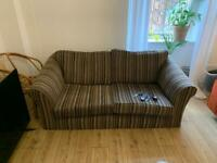 Free Couch (stripey/sofa/brown/purple)