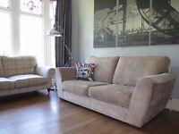 Mink/Champagne NEXT 3 Seater Chenille Sofa