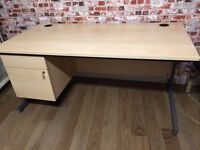 High quality desks with built in drawers, 160cm L and 176cm L, excellent condition, no scratches