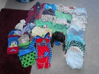 Boys 18-24 months vests, swimwear, sleepsuit bundle from pet and smoke free home