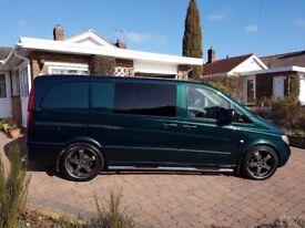 Rare dark green mercedes vito 111 Dualiner long. Remapped 180! No VAT! mint condition
