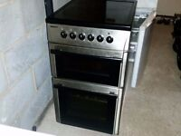BEKO ELECTRIC COOKER - DOUBLE OVEN - BLACK/SILVER - COULD DELIVER LOCALLY